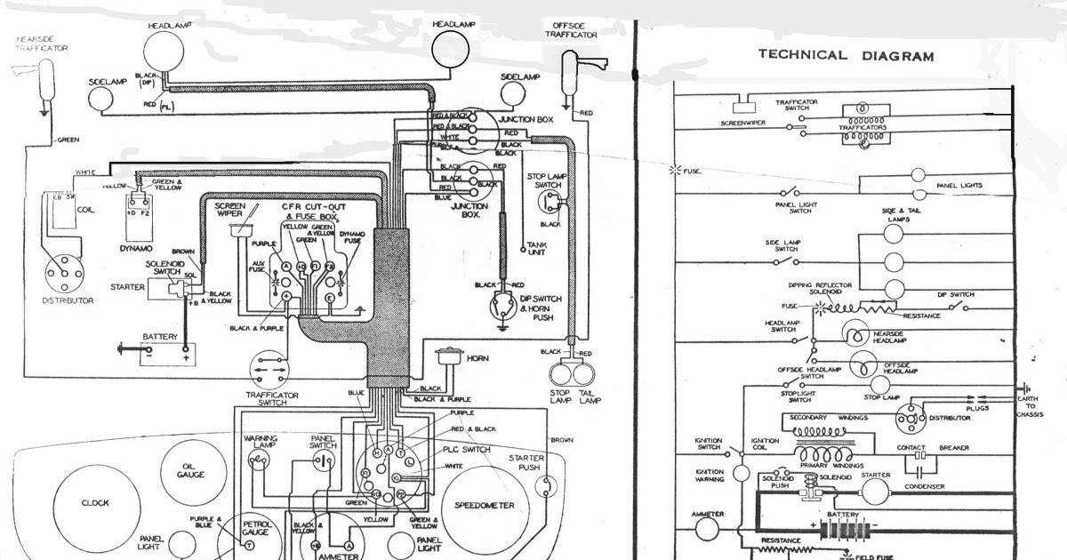 Free Auto Wiring Diagram  Austin 10 Wiring Diagram