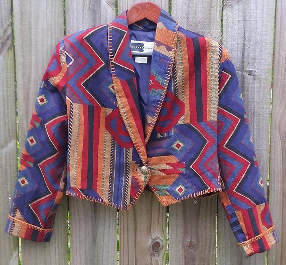 Vintage 80s Cropped Jacket