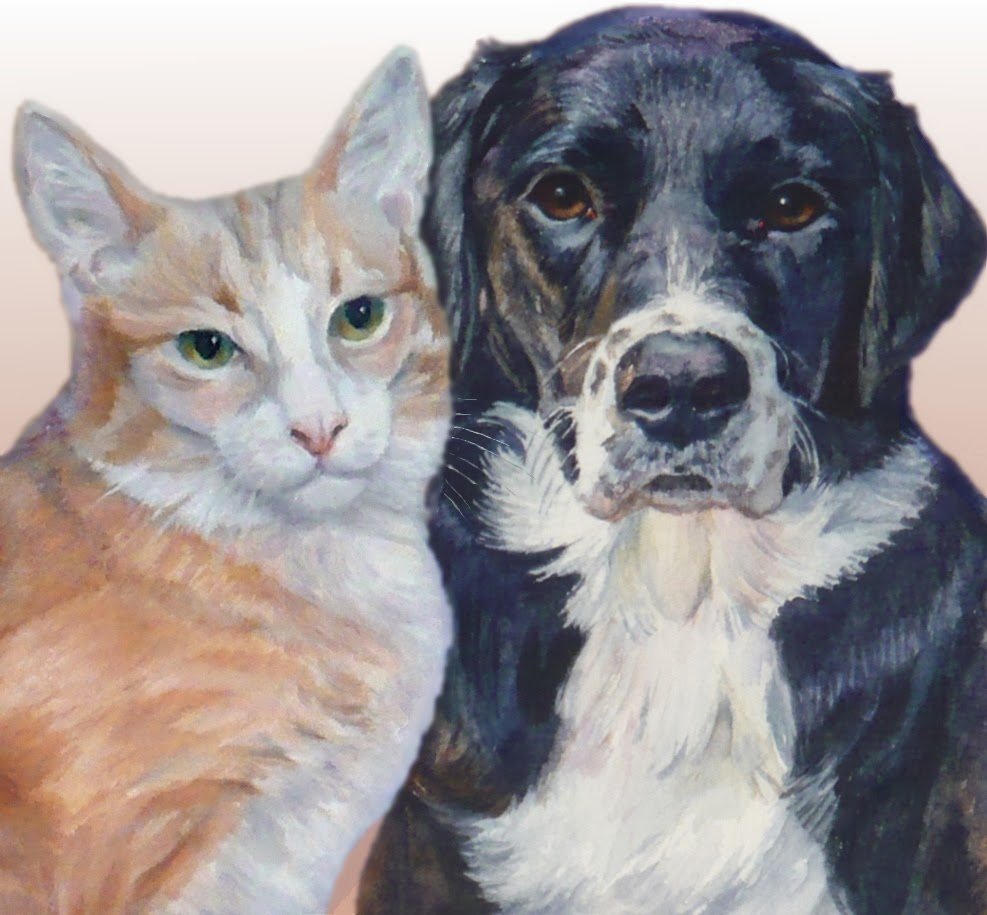 Janet zeh original art watercolor and oil paintings dog for Painting of your dog