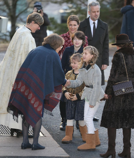 King Harald V and Queen Sonja of Norway, and Princess Martha Louise and Ari Behn and their daughters Maud Angelica Behn, Leah Isadora Behn, Emma Tallulah Behn