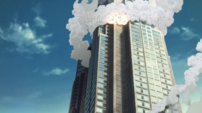 Zankyo no Terror - Building on fire