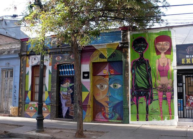 street art in santiago de chile barrio bellavista arte callejero