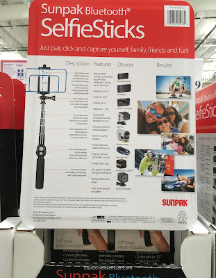 Make sure no one photo bombs you when using the Sunpak Bluetooth Selfie Stick