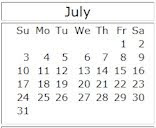 July 2011 events