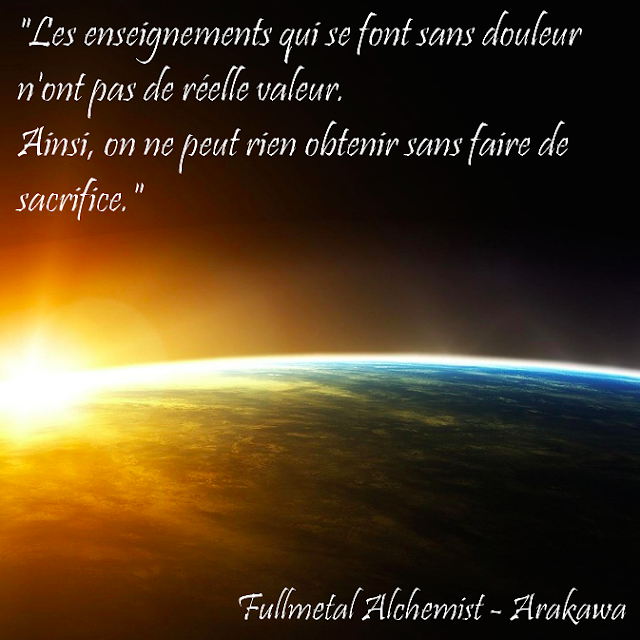 Citation Fullmetal Alchemist - Arakawa