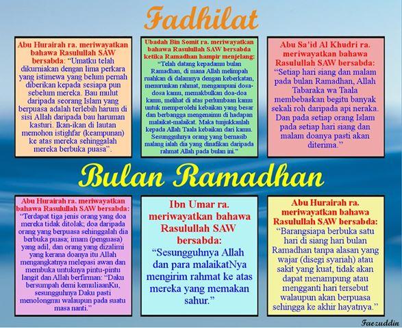 Ramadhan bulan berkat