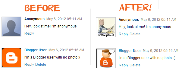 How To Change Default Avatars For Anonymous Users In Blogger Comments