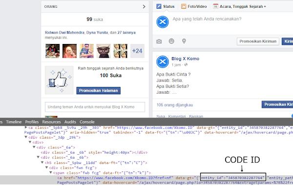Bagaimana melihat ID akun Facebook