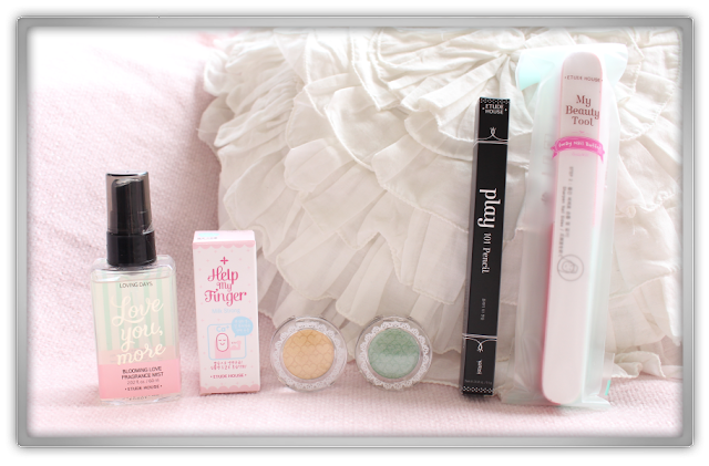 Cosmetic Love Random Etude House Haul beauty blog blogger love you more fragrance mist loot at my eyes play pencil help finger strengthener