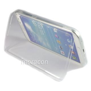 Clear TPU Flip Soft Gel Skin Case Cover For Samsung Galaxy Mega 6.3 i9200 + Film