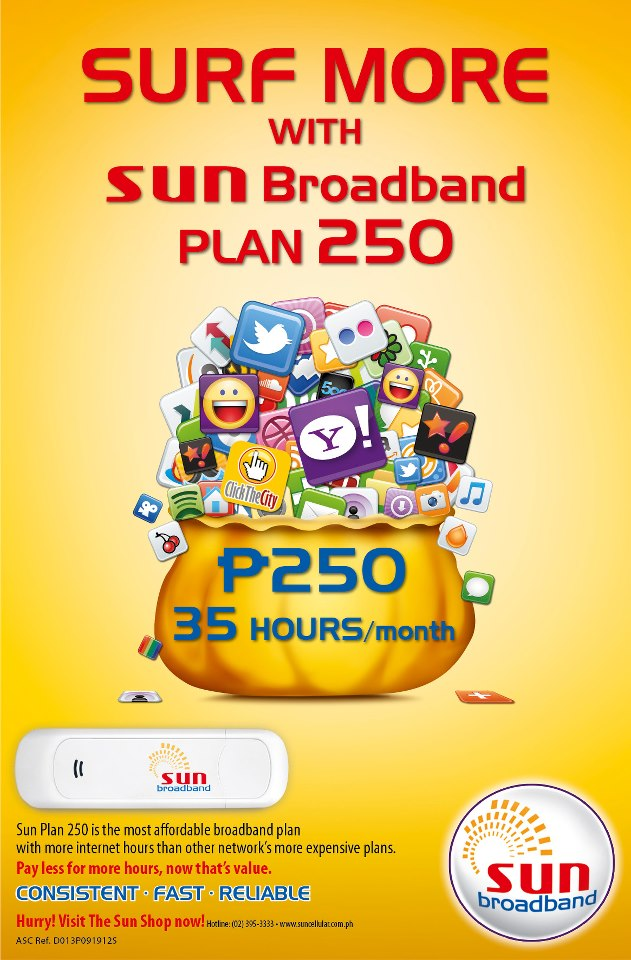 Choose among these Sun Postpaid services