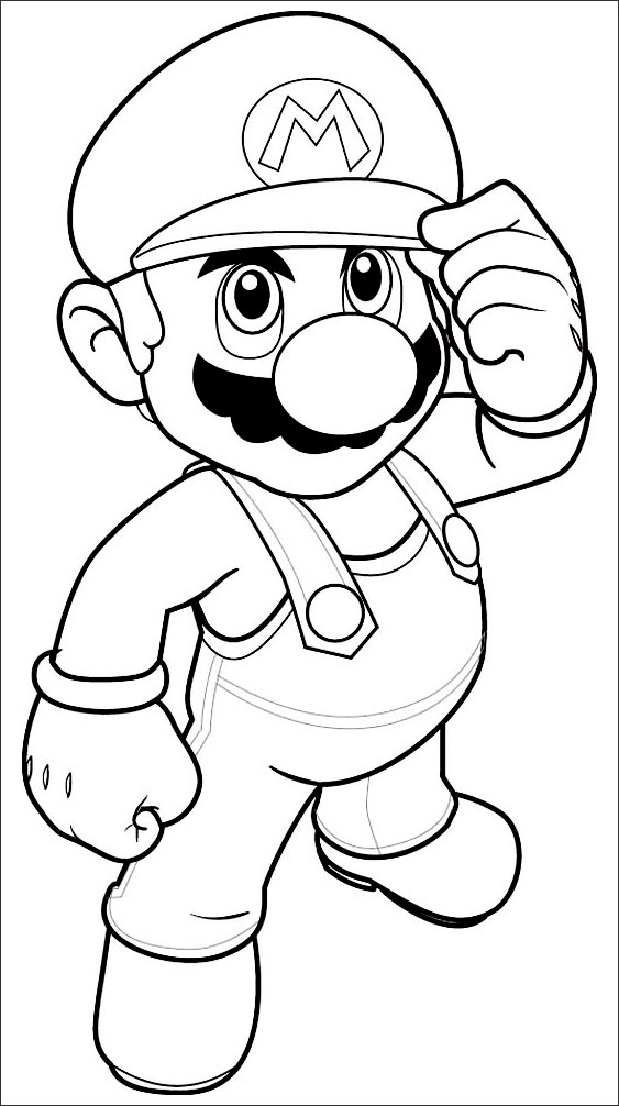 Priceless image in printable mario coloring pages