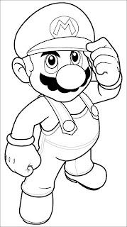 Mario kart coloring