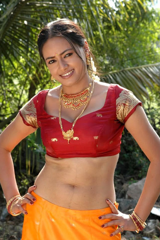 Actress Madhusantha Hot and Show in Half Saree wallpapers