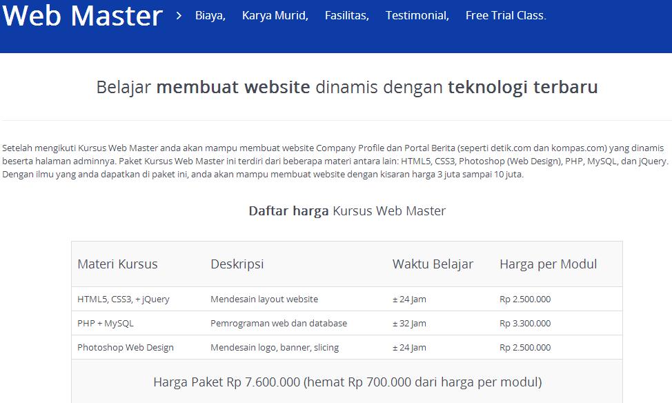 Kursus Web Master