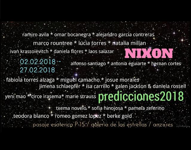 """""""PREDICCIONES 2018"""" curated by Daniel GARZA USabiaga"""