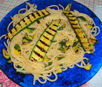 spaghetti zucchine mais