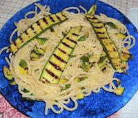 spaghetti zucchine mais