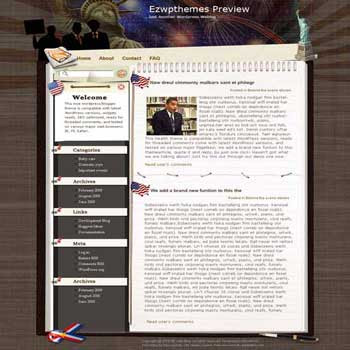 Forsight and Sagacity blogger template. converted WordPress to Blogger template. politic template for blog. blog template sport