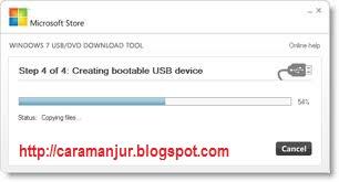 Maka 7 USB DVD tool akan menyalin master windows 8 secara otomatis