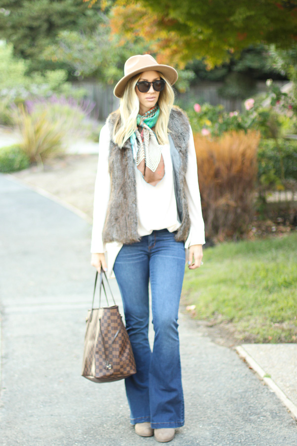faux fur vest parlor girl