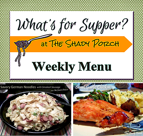 What's For Supper: Menu October 27, 2014