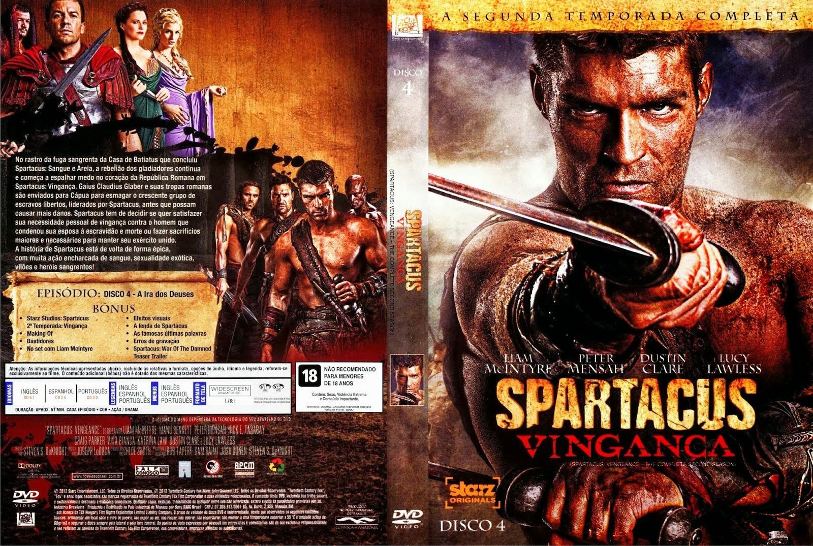 Filme Spartacus pertaining to covers séries: spartacus - 2° temporada - vingança - disco 4