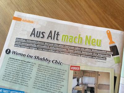 Oldie Wohnwagen Umbau in der Zeitschrift Clever Campen / www.loloundthe.blogspot.de
