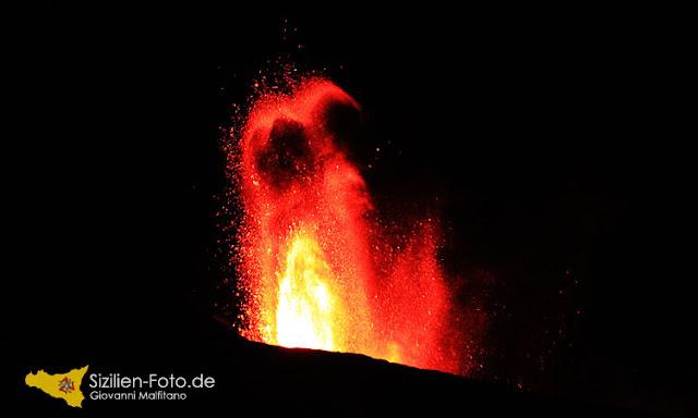 Vulkanausbruch Etna 31. Juli 2011