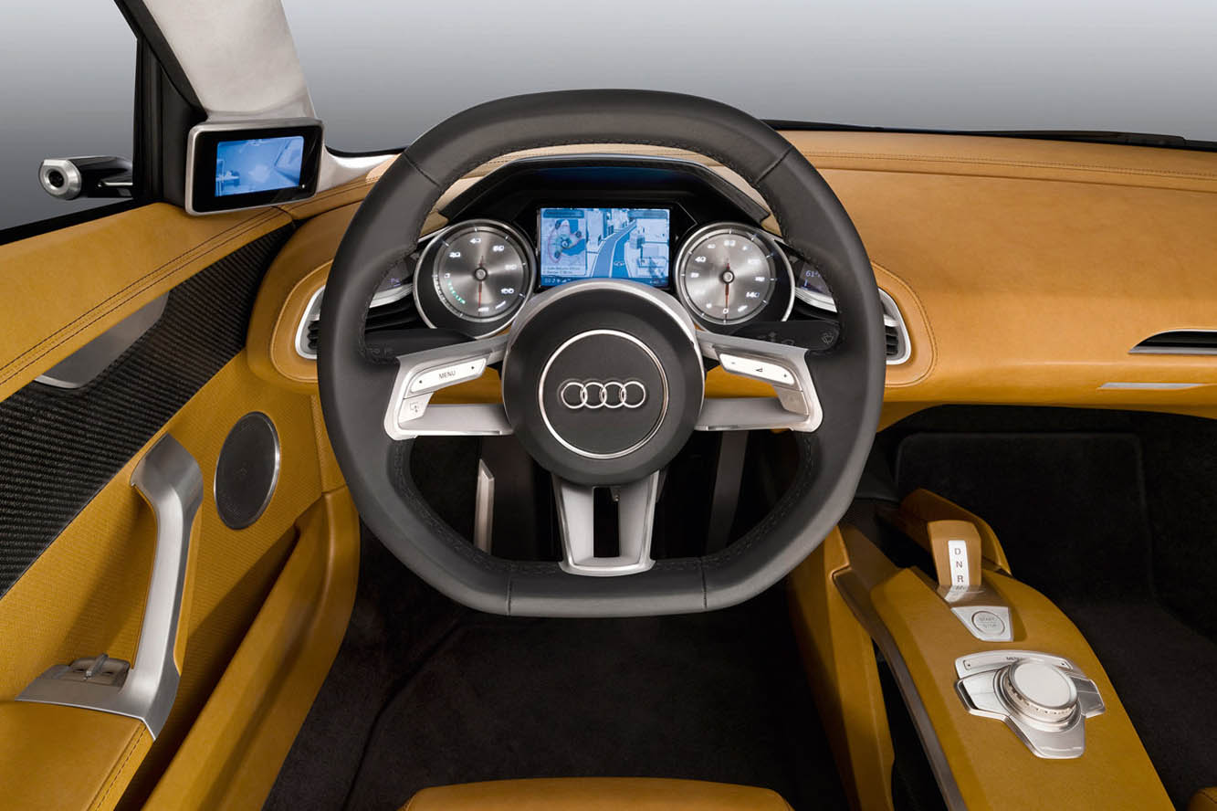audi newz dossier high tech le r troviseur num rique par audi. Black Bedroom Furniture Sets. Home Design Ideas