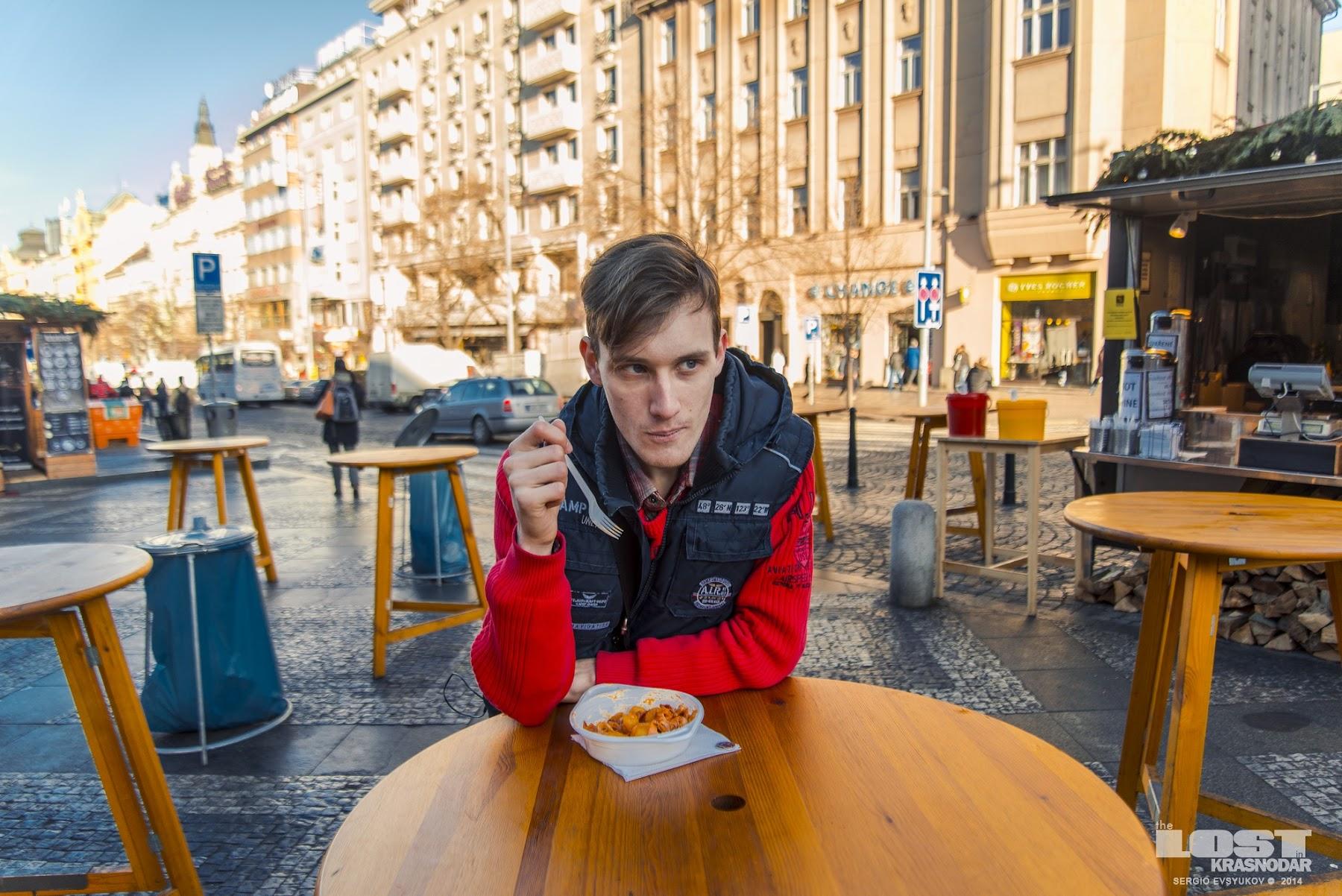 Уличная еда в Праге