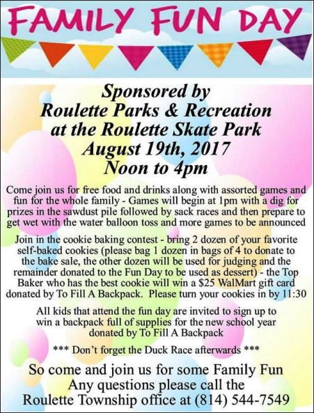 8-19 Roulette Family Fun  Day