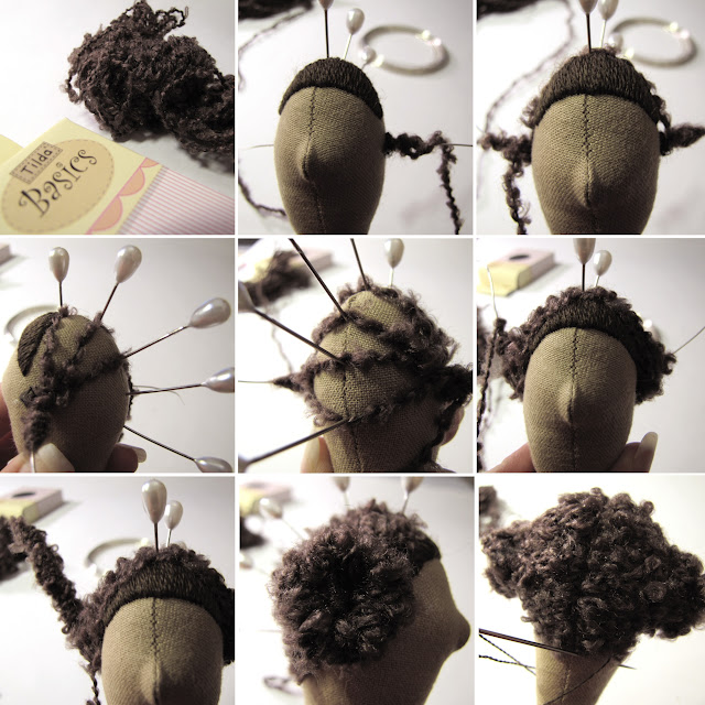 Кукла тильда как сделать волосы из пряжи
