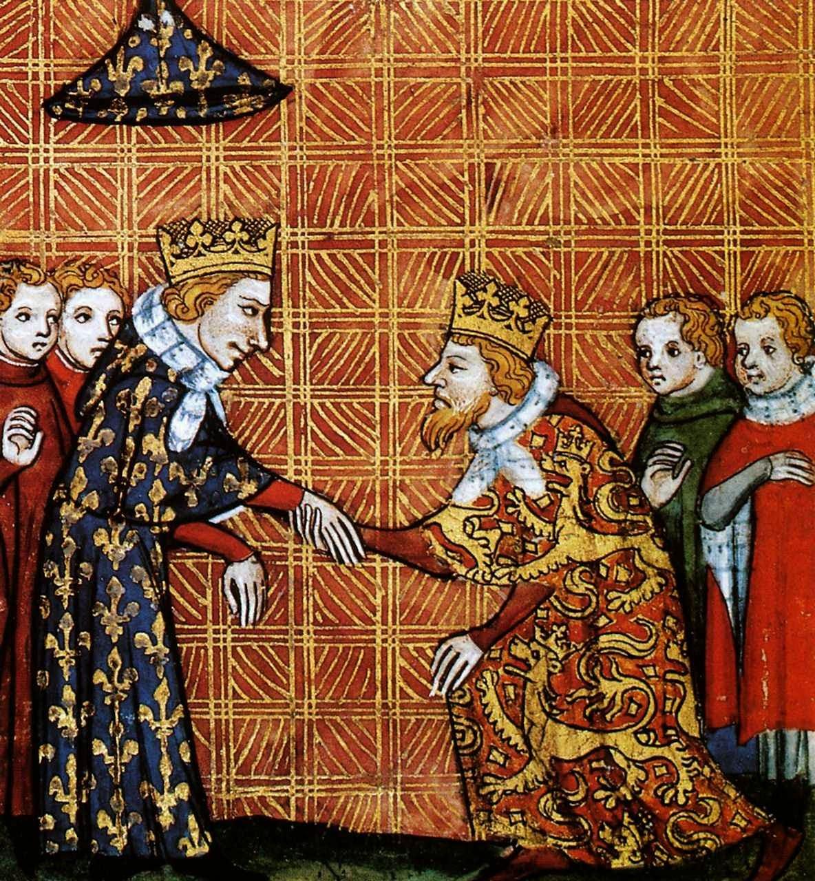 São Luís recebe a vassalagem de Henrique III da Inglaterra