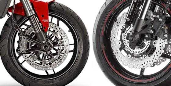 Ducati Monster 821 vs Kawasaki Z800 Safety