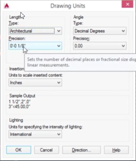 how to change units in autocad 2016