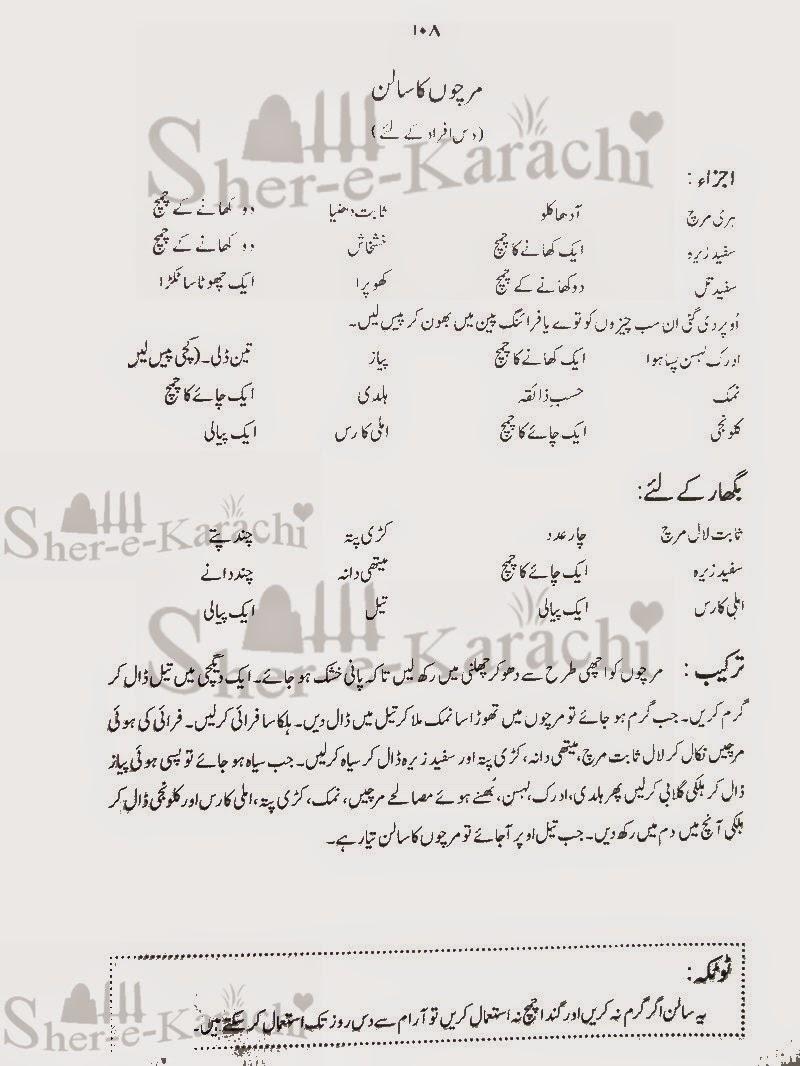 Mirchi Ka Salan Recipe In Urdu