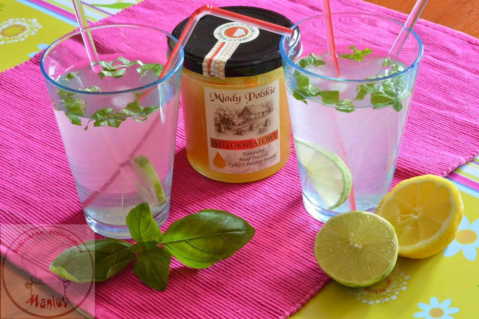 Napoje orzeźwiające na bazie miodu - konkurs z Miody Polskie