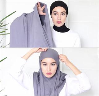 jilbab instan langkah 1