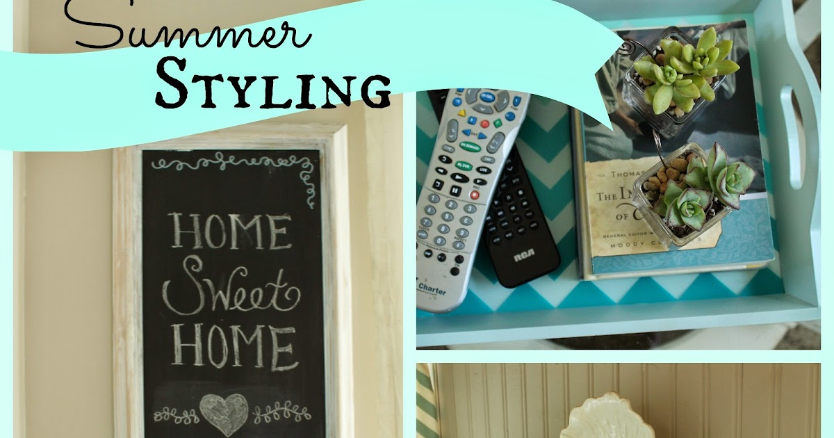 Homey Home Design Summer Styling