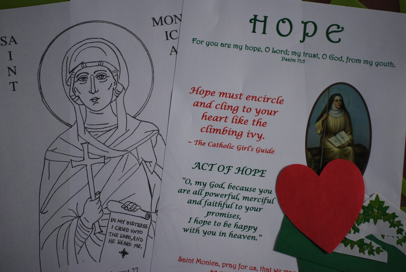 Our Lady of Mount Carmel Little Flowers Girls\' Club: Hope ~ St. Monica