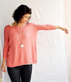 sweter typu oversize