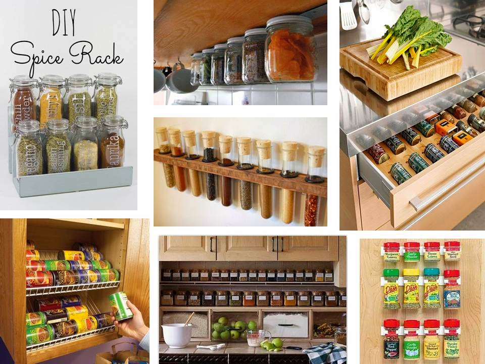How to organize and storage kitchen spice jars