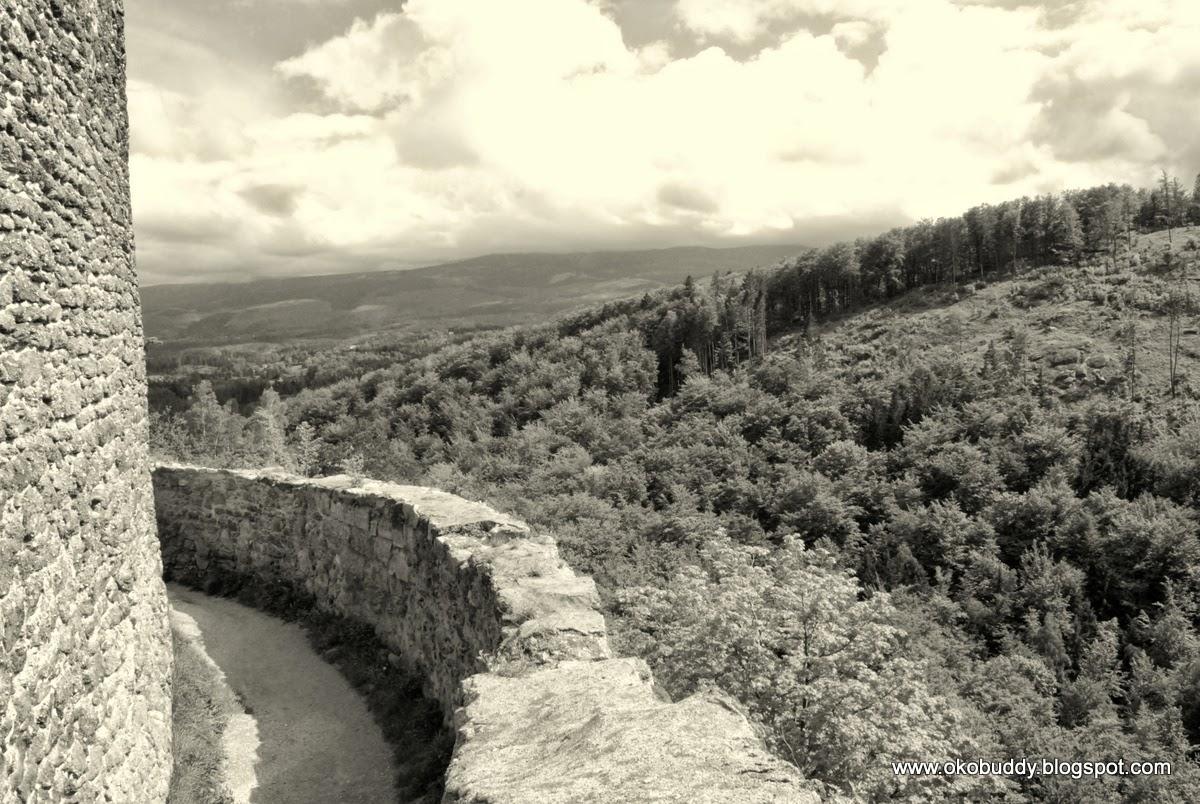 Zamek Chojnik - widok z murów