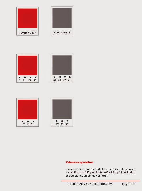 Uso del color de identidad corporativa en la Universidad de Murcia PDF