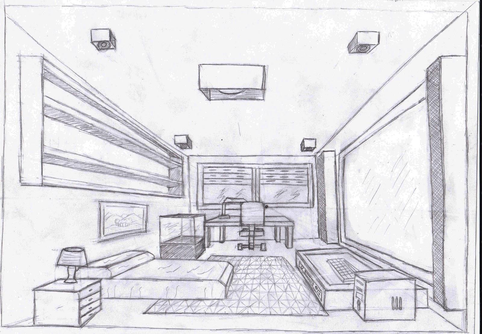 Silvia barzola arte perspectiva frontal 2 es for Dormitorio para dibujar