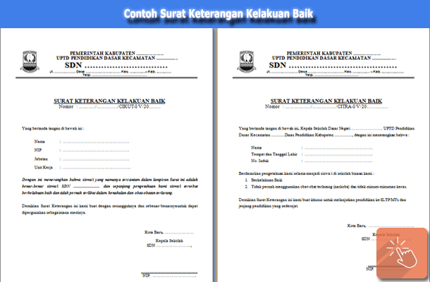 Contoh Surat Keterangan Kelakuan Baik Siswa SD