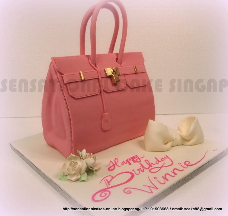 hermes purse cake