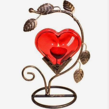 bougeoir romantique, st valentin, cadeau st valentin, idée st valentin