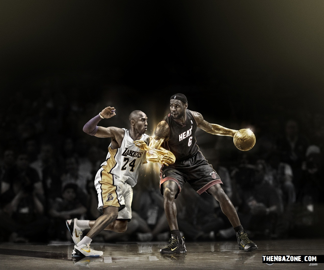 Lebron James and Kobe Bryant NBA Payoffs 2012 HD Wallpaper